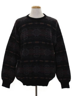 1980's Mens Wool Totally 80s Cosby Style Sweater