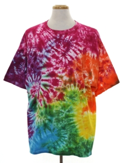 1980's Mens Tie Dye Hippie T-Shirt