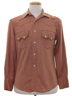 1950's Mens Gabardine Western Shirt