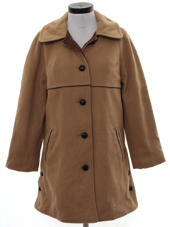 1970's Womens Wool Car Coat Jacket