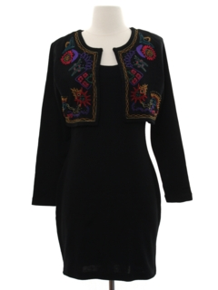 1980's Womens Wiggle Dress