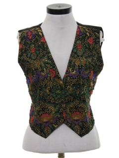 1980's Womens Beaded Cocktail Vest