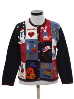 1980's Womens Cheesy Kitschy Ugly Sweater