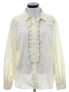 1980's Womens Western Tuxedo Style Shirt