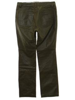 1990's Womens Leather Jeans Style Flared Pants