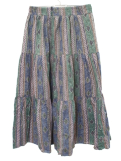 1980's Womens Southwestern Style Hippie Skirt