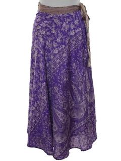 1990's Womens Reversible Hippie Wrap Skirt