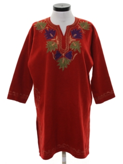 1980's Womens Indian Ethnic Hippie Salwar Kameez A-line Dress