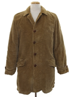 1950's Mens Corduroy Car Coat Jacket