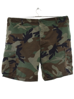 1980's Mens Army Cargo Shorts
