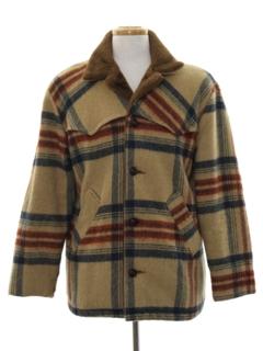 1980's Mens Wool Western style Car Coat Jacket