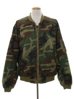 1990's Mens Army Military Zip Work Jacket