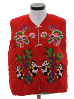 1980's Womens Asian Inspired Hippie Vest