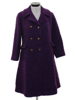 1960's Womens Wool Car Coat Jacket