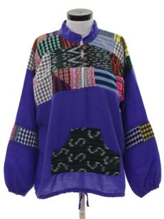 1980's Womens Hippie Baja Style Jacket