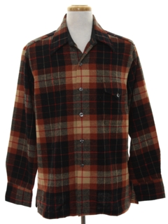 1970's Mens Wool Shirt