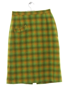 1960's Womens Mod Wool Skirt