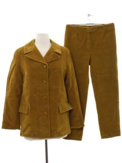 1960's Womens Designer Hippie Pant Suit