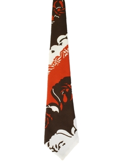 1970's Mens Abstract Necktie