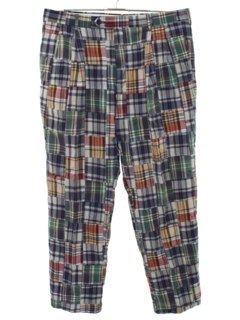 1990's Mens Madras Golf Style Pants