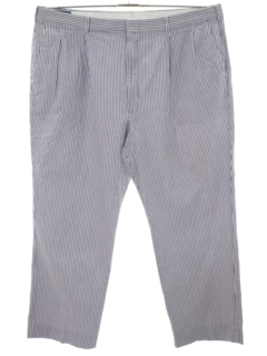 1980's Mens Golf Style Seersucker Pants