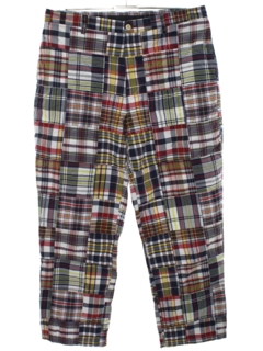 1990's Mens Madras Slacks Pants