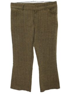 1960's Mens Flared Cropped Mod Slacks Pants