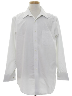 1980's Mens Preppy French Cuff Shirt