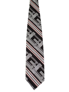 1970's Mens Wide Diagonal Disco Necktie