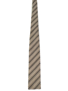 1950's Mens Mod Square Bottom Knit Necktie