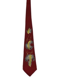 1950's Mens Hand Painted Swing Necktie