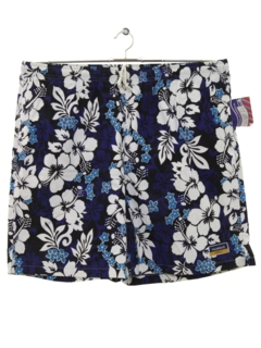 1980's Mens Hawaiian Swim Shorts