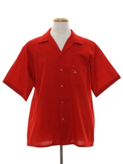 1950's Mens Loop Collar Sport Shirt