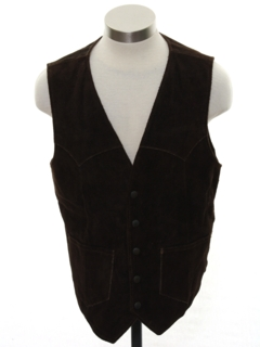 1970's Mens Western Style Suede Leather Vest