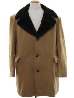 1970's Mens Wool Car Coat Jacket