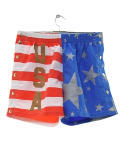 1990's Mens Patriotic Sport Shorts