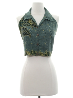 1990's Womens Wicked 90s Cropped Halter Shirt