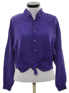 1980's Womens Totally 80s Cropped Shirt