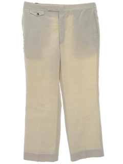 1980's Mens Totally 80s Linen Slacks Pants