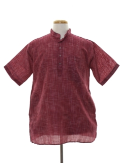 1990's Mens Ethnic Hippie Style Shirt