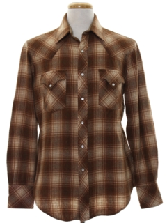 1980's Mens Wool Western Shirt