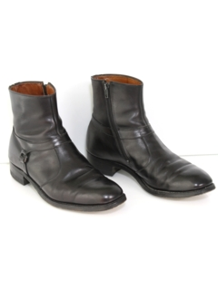 1970's Mens Accessories --Leather Mod Boots Shoes