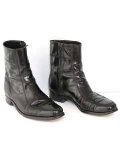 1970's Mens Accessories - Leather Mod Boots Shoes