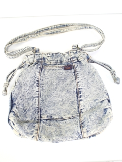 1980's Womens Accessories --Totally 80s Acid Wash Denim Purse