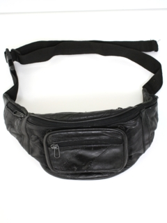 1990's Unisex Accessories --Leather Fanny Pack