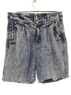 1990's Womens Wicked 90s High Waisted Acid Washed Denim Cut Off Shorts