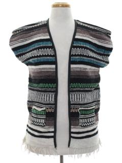 1980's Unisex Hippie Vest