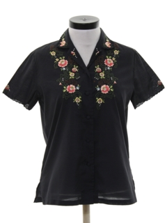 1980's Womens Asian Inspired Shirt
