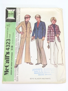 1970's Mens/Teen Child Pattern