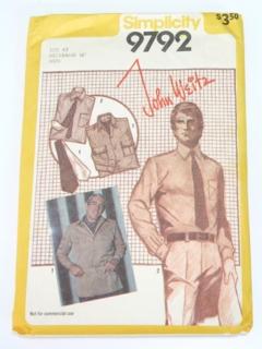 1980's Mens Pattern